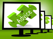 Advice On Monitors Shows Public Guidance — Stock Photo