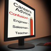 Careers Advice On Monitor Showing Guidance — Stock Photo