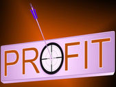 Profit Shows Financial Investment Success — Stock Photo