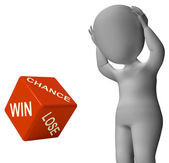 Chance Win Lose Dice Shows Good Luck — Stock Photo