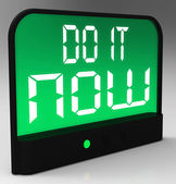 Do It Now Clock Showing Urgency For Action — Stock Photo