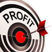 Profit Shows Market And Trade Earning — Stock Photo