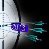 2013 Target Shows Successful Future Growth — Stock Photo