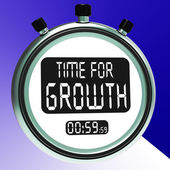Time For Growth Message Means Increasing Or Rising — Stock Photo