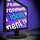 Ideas On Monitor Showing New Inventions s — Stock Photo