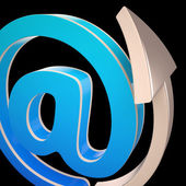 At-Symbol Shows Electronic Mail Correspondence — Stock Photo