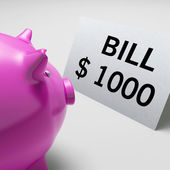 Bills Dollars Shows Invoices Payable And Accounting — Stock Photo