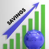 élevage graphique épargne montrant la réussite financière — Photo