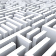 Stock Photo: Maze Shows Challenge Or Complexity