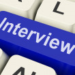 Interview Key Shows Interviewing Interviews Or Interviewer — Stock Photo