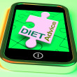 Stock Photo: Diet Advice On Smartphone Shows Healthy Diets Online