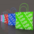 Stock Photo: Sale Reduction Shopping Bags Shows Bargains
