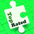 Top Rated Puzzle Shows Best Ranked Special Product — Stock Photo