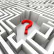 Stock Photo: Question Mark In Maze Shows Confusion