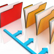 Stock Photo: Folders Or Files Shows Correspondence And Organized
