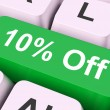 Ten Percent Off Key Means Discount Or Sal — Stock Photo #32848055