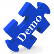 Demo Puzzle Shows Product Demonstration Trial Or Version — Stock Photo