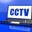 CCTV Laptop Shows Security Protection Or Monitoring Online — Stock Photo #32848095