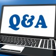 Q&a On Monitor Shows Question And Answer Online — Stock Photo