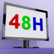 Forty Eight Hour On Monitor Shows 48h Service — Stock Photo #32848207