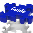 Stock Photo: Guide Puzzle Shows Expertise Consulting Instructions Guideline A