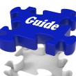 Guide Puzzle Shows Expertise Consulting Instructions Guideline A — Stock Photo #32848471