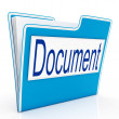 Stock Photo: Document On File Means Organizing And Paperwork