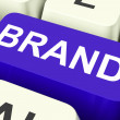 Brand Key Shows Branding Trademark Or Label — Stock Photo