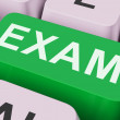 Exam Key Shows Examination Exams Or Web Test — Stock Photo #32848503