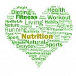 Stock Photo: Nutrition Heart Shows Healthy Food Nutrients And Nutritional