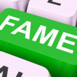 Stock Photo: Fame Keys Mean Renowned Or Popula