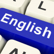 English Key Means Language — Stock Photo #32848907