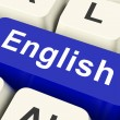 English Key Means Language — Stock Photo