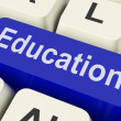 Stock Photo: Education Key Means Schooling Or Trainin