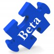 Beta Puzzle Shows Demo Software Or Development — Stock Photo