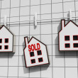 Sold House Meaning Sale Of Real Estate — Stok Fotoğraf #32849131
