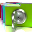 Files With Key Show Protection And Classified — Stock Photo