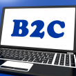 B2c On Laptop Shows Business To Customer Or Consumers — Stock Photo