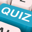 Quiz Key Means Test Or Questionin — Stock Photo