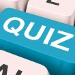 Stock Photo: Quiz Key Means Test Or Questionin