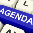 Agenda Key Means Schedule Or Outlin — Stock Photo