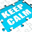 Stock Photo: Keep Calm Puzzle Shows Calmness Relax And Composed