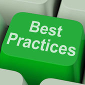 Best Practices Key Shows Improving Business Quality — Stock Photo