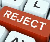 Reject Key Means Decline Or Den — Stock Photo