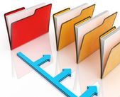 Folders Or Files Shows Correspondence And Organized — Stock Photo