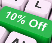 Ten Percent Off Key Means Discount Or Sal — Stock Photo