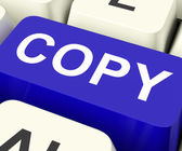 Copy Keys Mean Duplicate Copying Or Replicat — Stock Photo