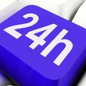 Twenty Four Hours Key Shows Open All Da — Stock Photo
