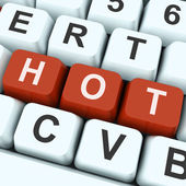 Hot Key Means Amazing Or Fantastic Deal — Stock Photo