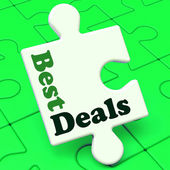 Best Deals Puzzle Shows Deal Promotion Or Bargain — Stock Photo